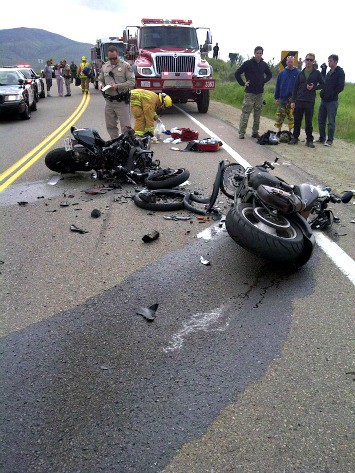 A fatal motorcycle accident in San Diego County on Jan. 30, 2011. (CAL FIRE San Diego)